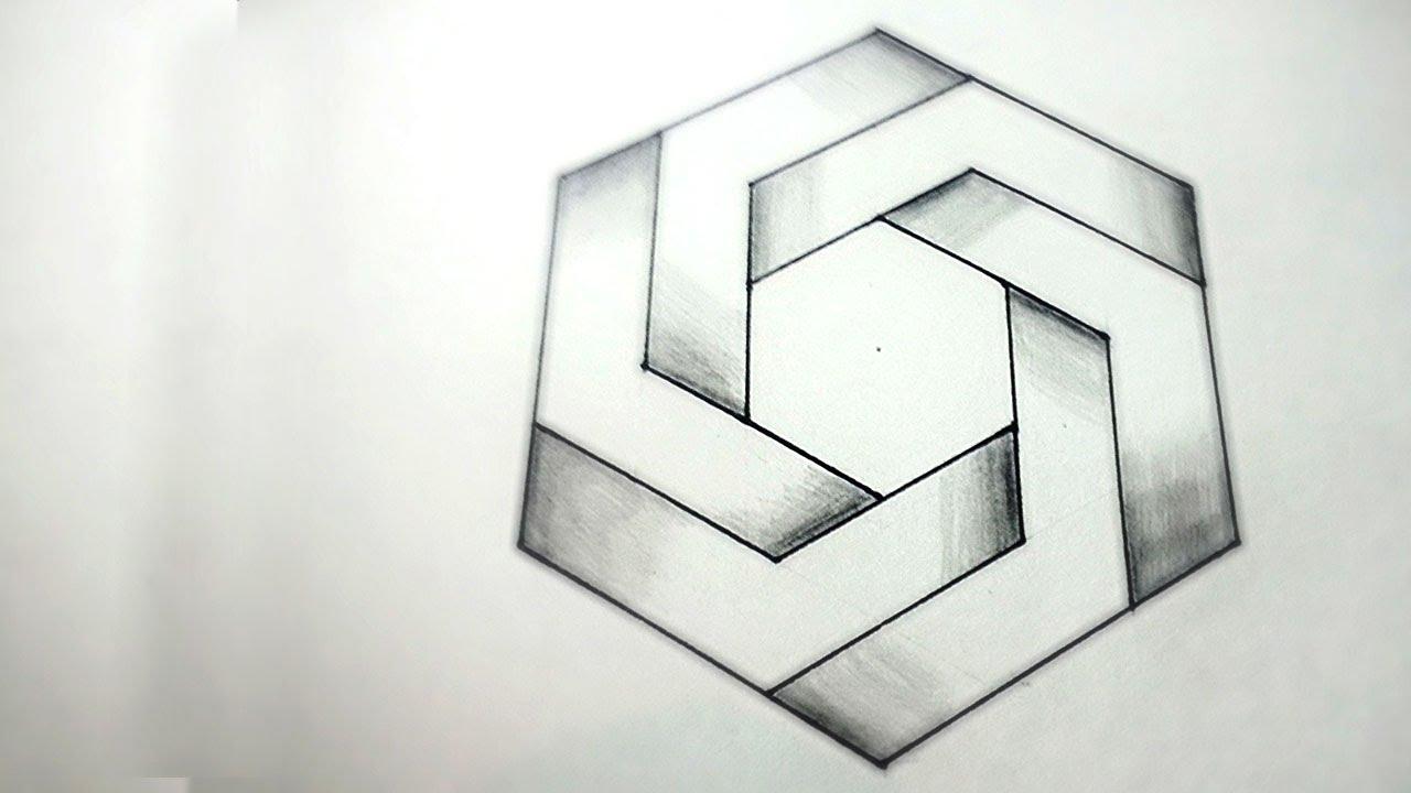 Drawn optical illusion allusion Optical To Hexagon DearingDraws Draw