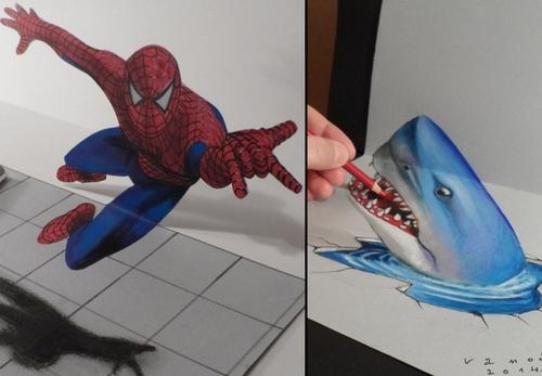 Drawn shark vamos Blog 00 3D Illusions