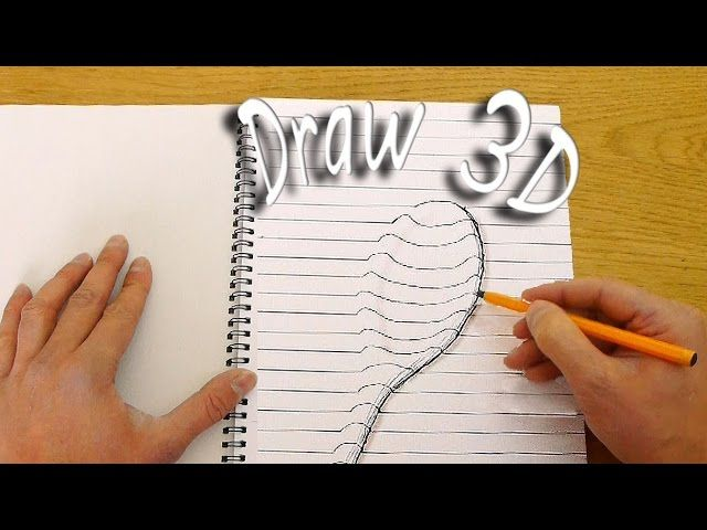 Drawn 3d art finger #1