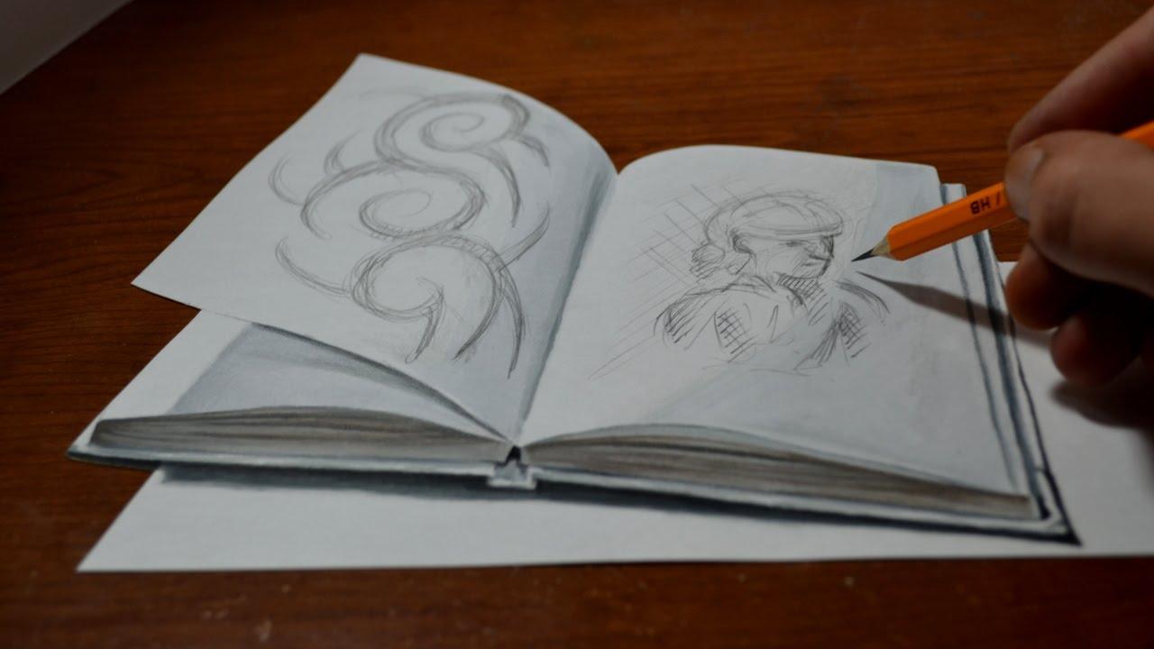 Drawn optical illusion anime 3D Drawing Amazing a Illusion