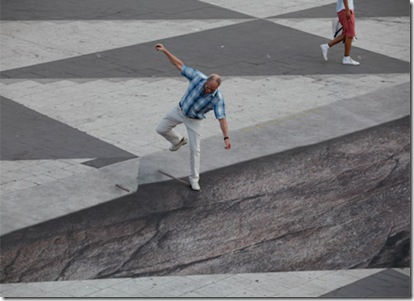 Drawn optical illusion awesome Street dimensional three 3d catching