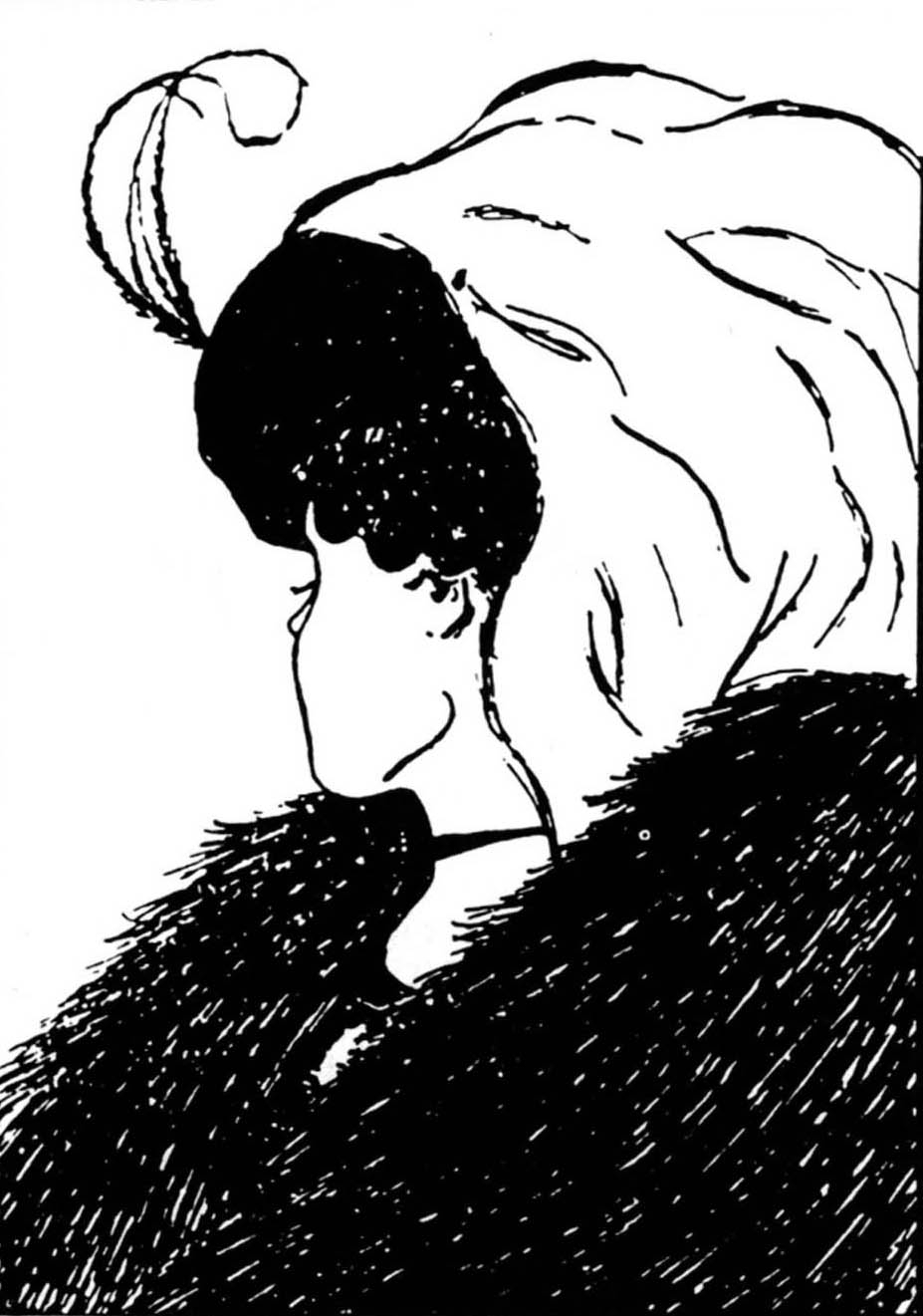 Drawn optical illusion badass Anime badass Old Drawing Woman