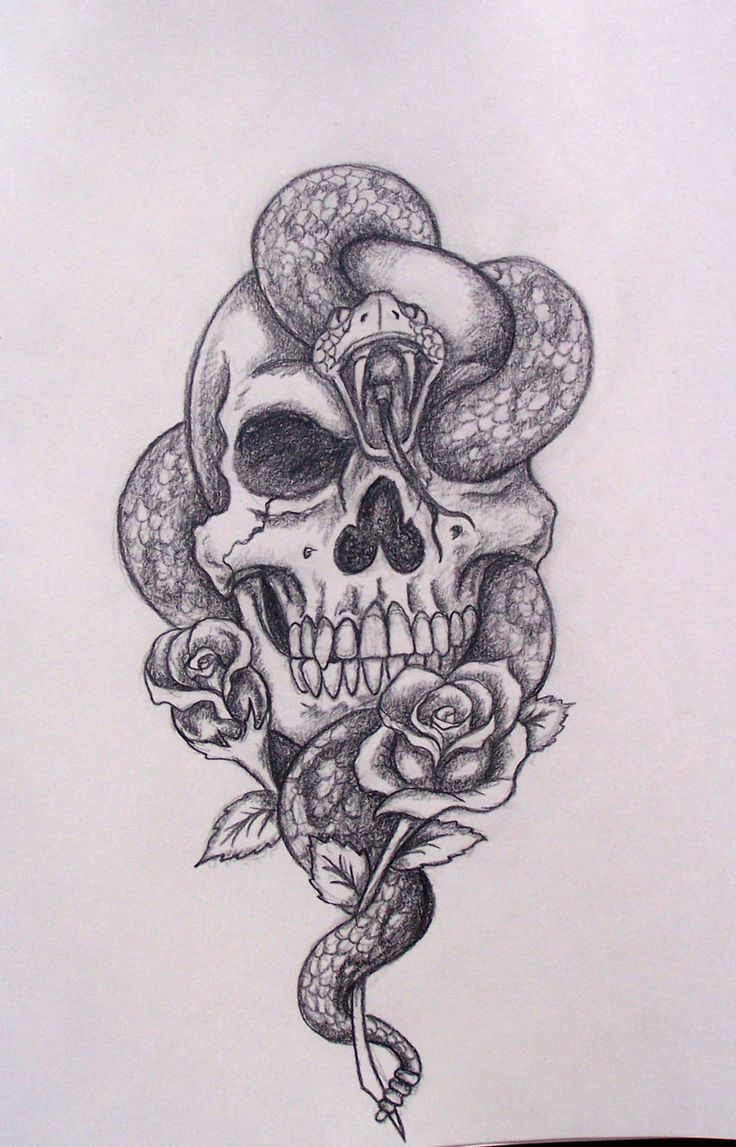 Drawn rose awesome Pinterest skull on Cool drawings
