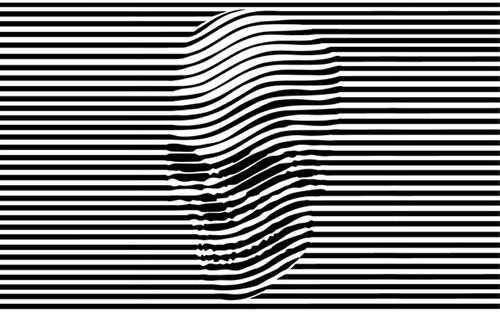 Drawn optical illusion badass WTF skulls skull and black