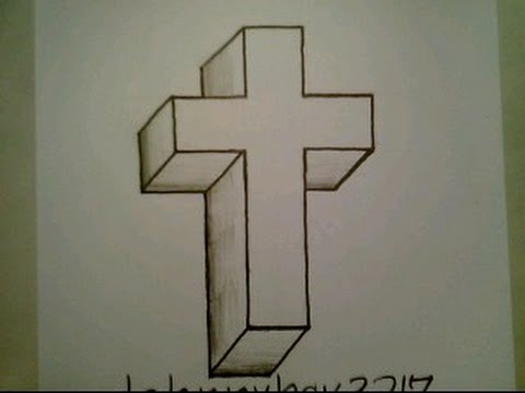Drawn optical illusion basketball  Illusion A Step Crucifix