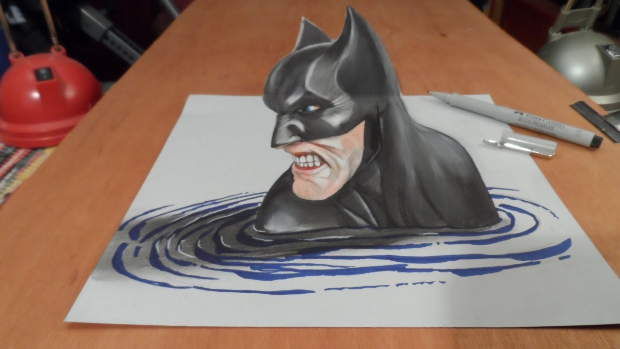 Drawn optical illusion batman #10