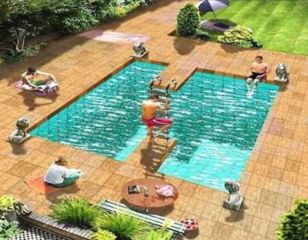 Drawn illusion swimming pool 3D Swimming Pool 22 Page