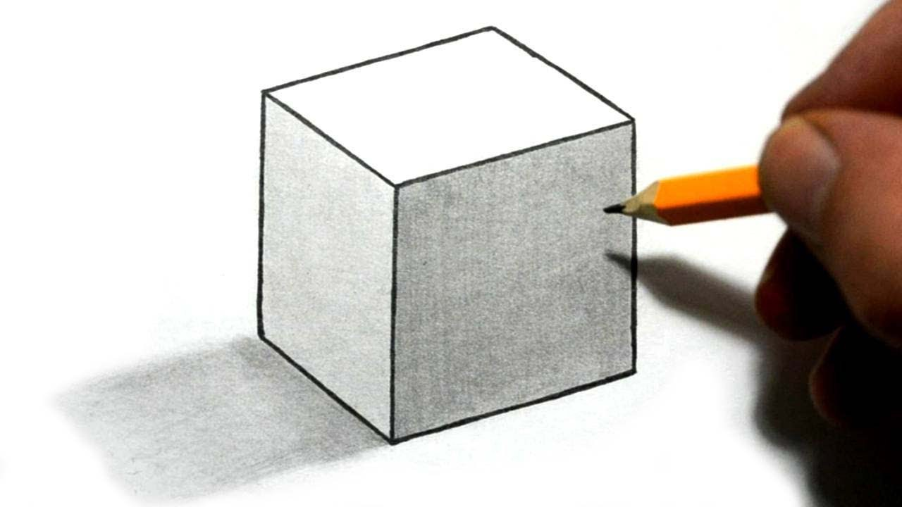 Drawn optical illusion beginner By 3d for 3d cube
