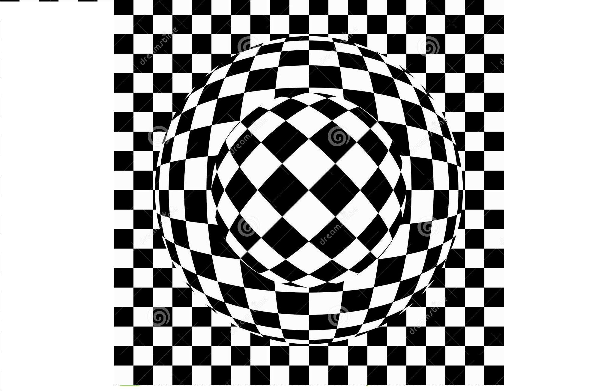 Drawn optical illusion black and white Double optical optical illusion eye