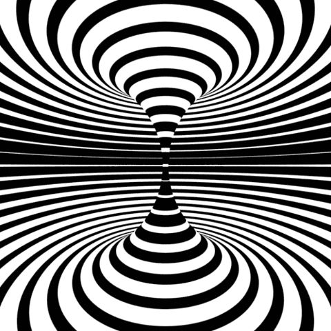 Drawn optical illusion black and white About Optical drawing on illusions/3D