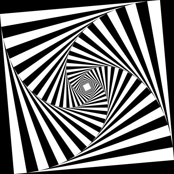 Drawn optical illusion black and white Images Op White Op Fractals