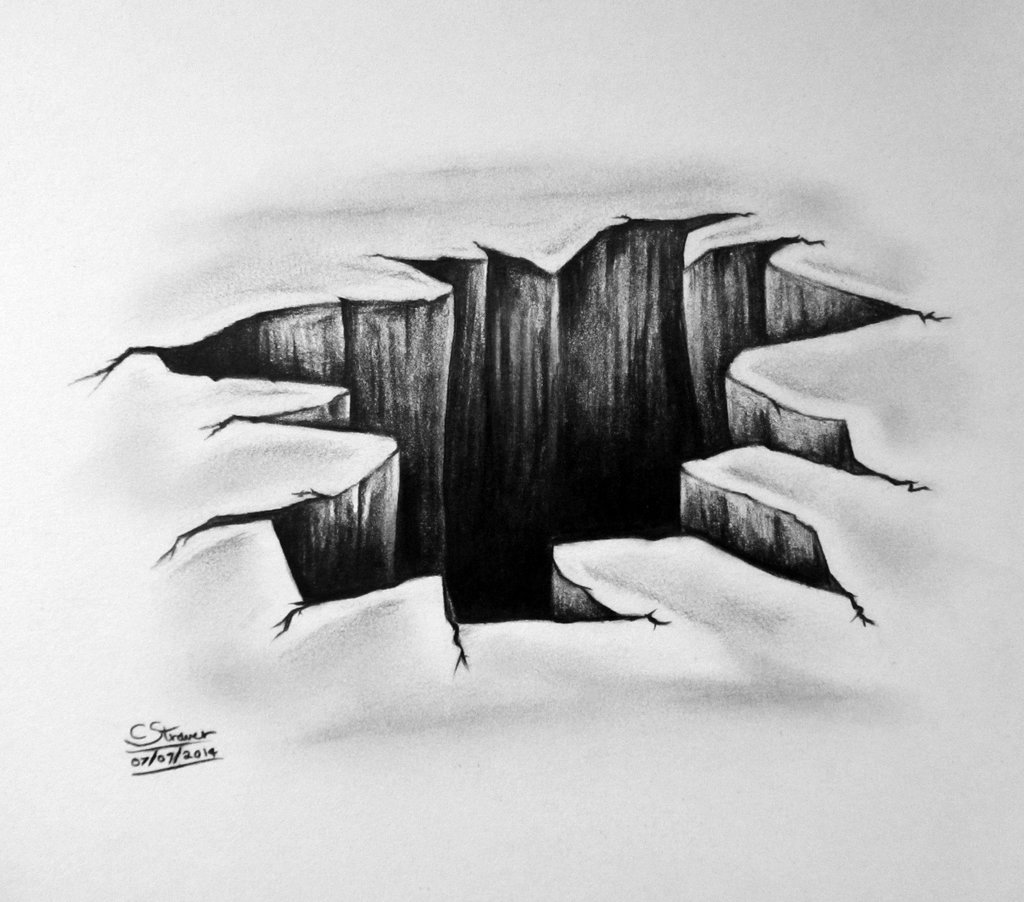 Drawn optical illusion black hole Illusion 3D DeviantArt LethalChris Hole