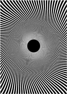Drawn optical illusion black hole Moillusions http://www and Black Optical