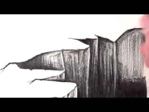 Drawn optical illusion chalk drawing Illusion YouTube 2015 to Draw