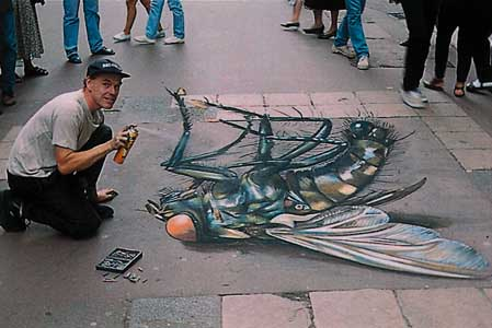 Drawn optical illusion chalk drawing Drawing artists other you'll Chalk