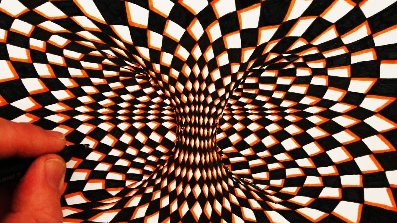 Drawn optical illusion circle Moving a Illusion Draw How