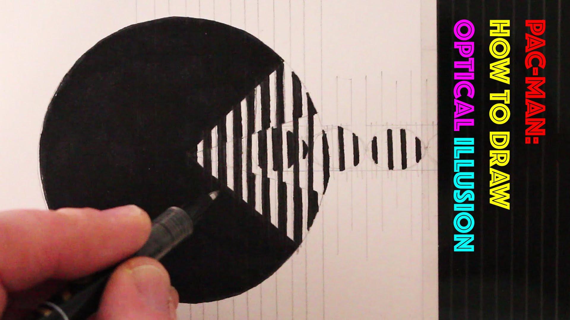 Drawn optical illusion circle How Pac Pac Illusion Draw