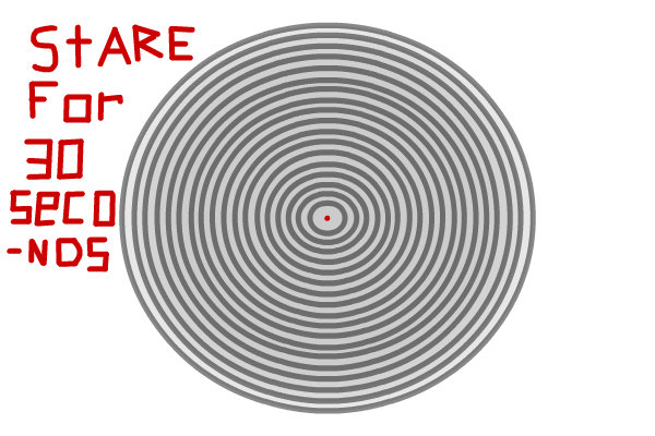 Drawn stare optical illusion Illusion ← other drawing a