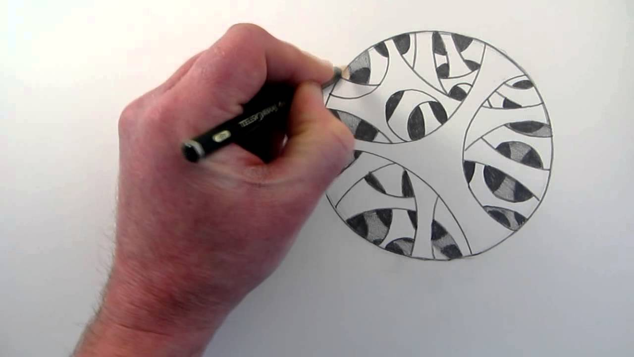 Drawn optical illusion circle Holes: a Optical Draw How