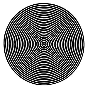 Drawn optical illusion circle Test Concentric astigmatism D537 PSM