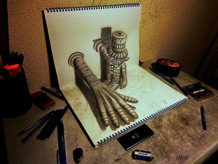 Drawn optical illusion cool pop Amazing 3d 16 Creative DrawingsSketchbook