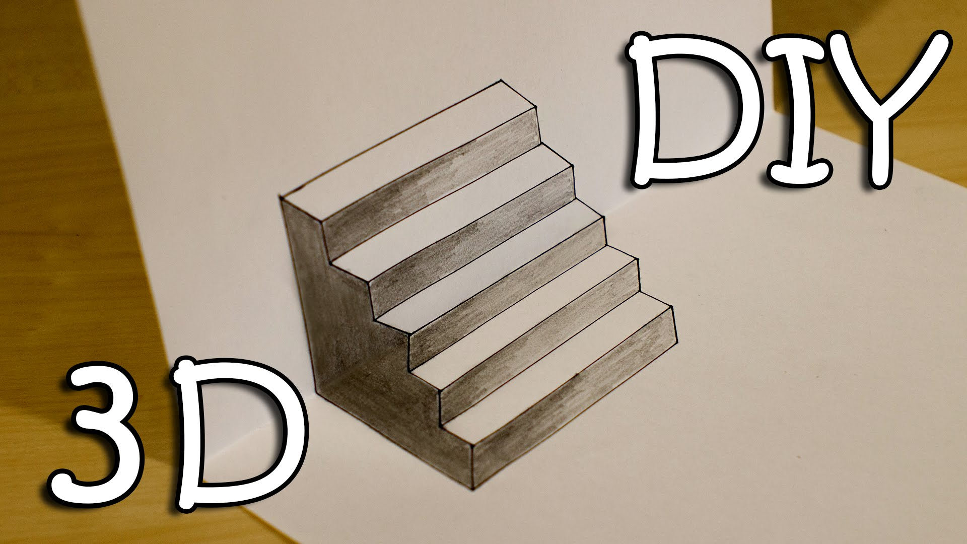 Drawn stairs simple Optical YouTube 3D Optical Draw