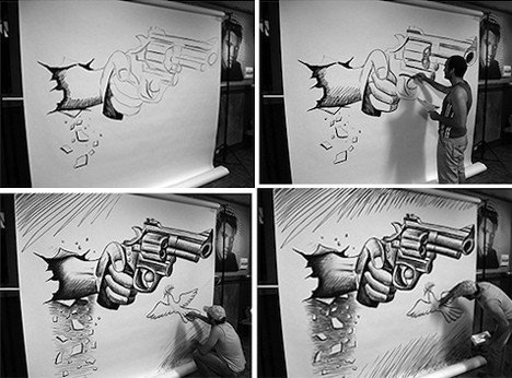 Drawn optical illusion cool pop Pencil Urbanist Drawings Page Pencil