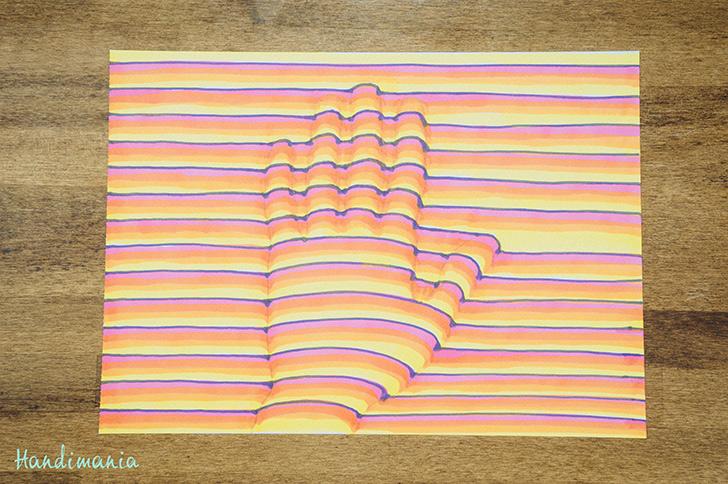 Drawn optical illusion cool pop 3d DIY Handimania to How