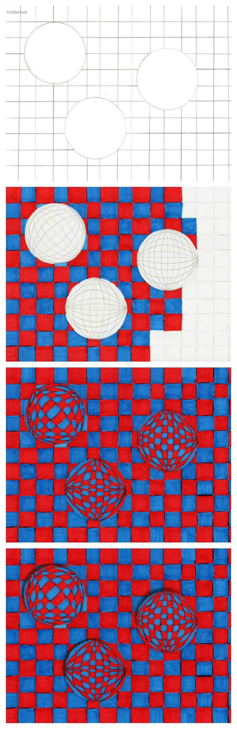 Drawn optical illusion cool pop Cool Sphere art Drawings Sphere