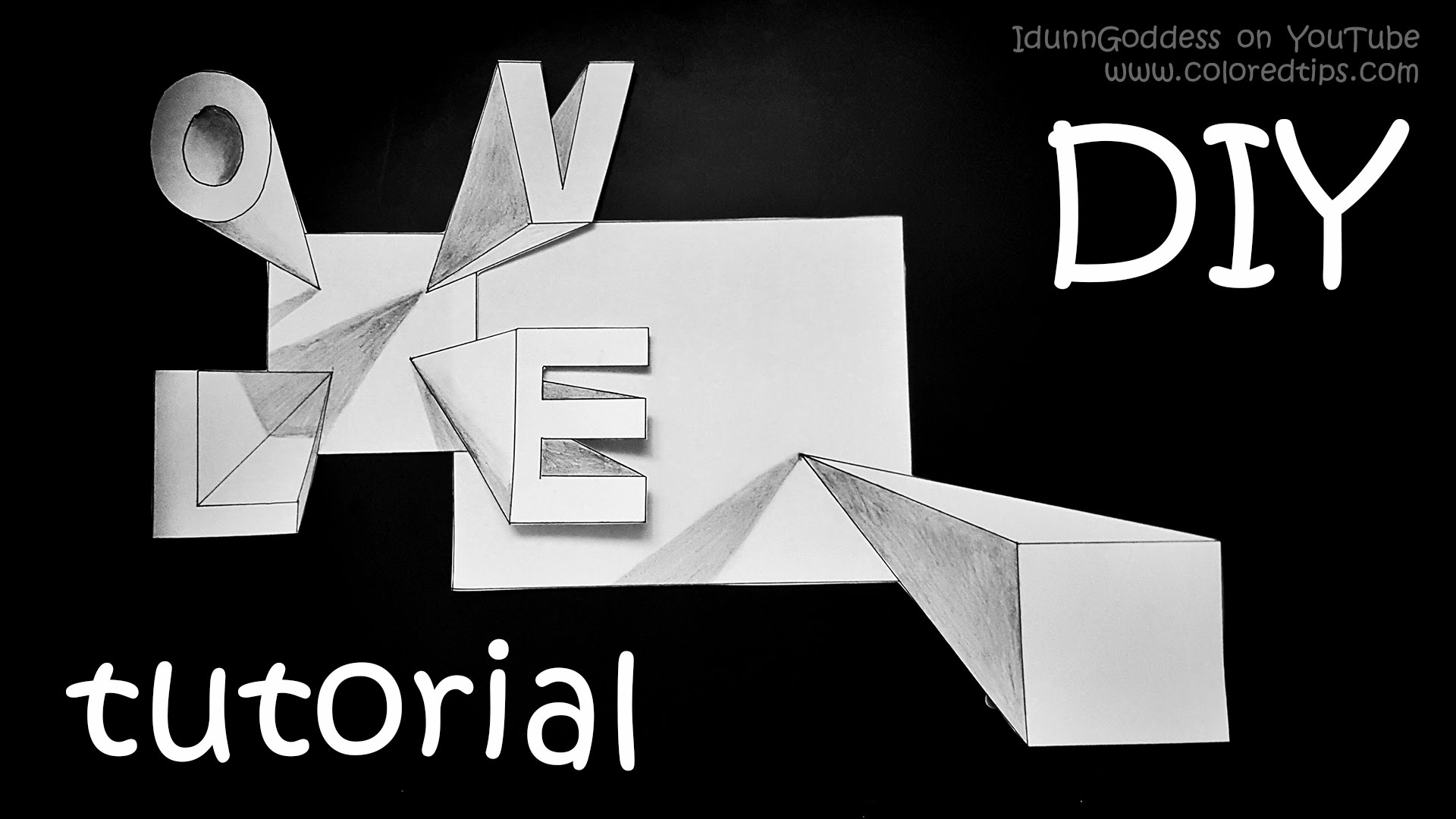 Drawn optical illusion cool word By YouTube To 3D Step