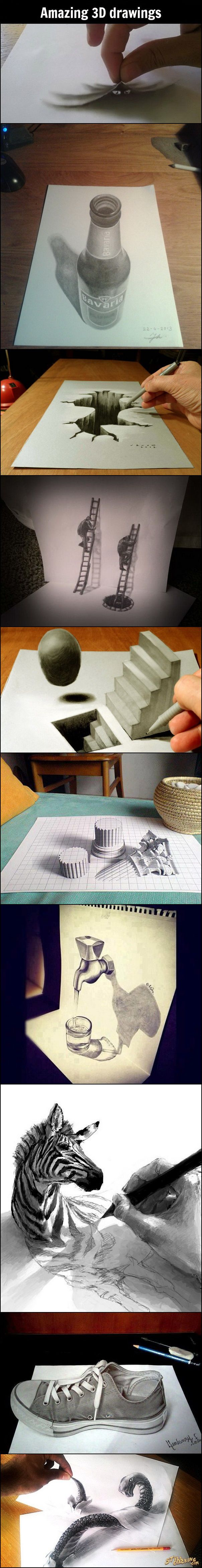 Drawn 3d art really And Pinterest on Illusions Find