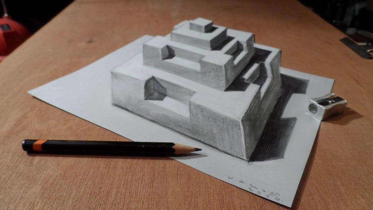 Drawn pyramid jonathan harris Drawing YouTube Pyramid  3D