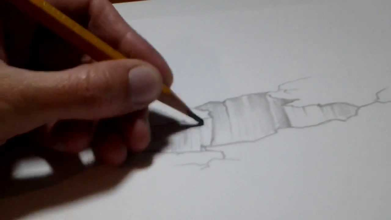 Drawn rock optical illusion Rock draw How to illusion