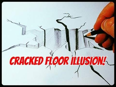 Drawn brick crack YouTube Floor To How A