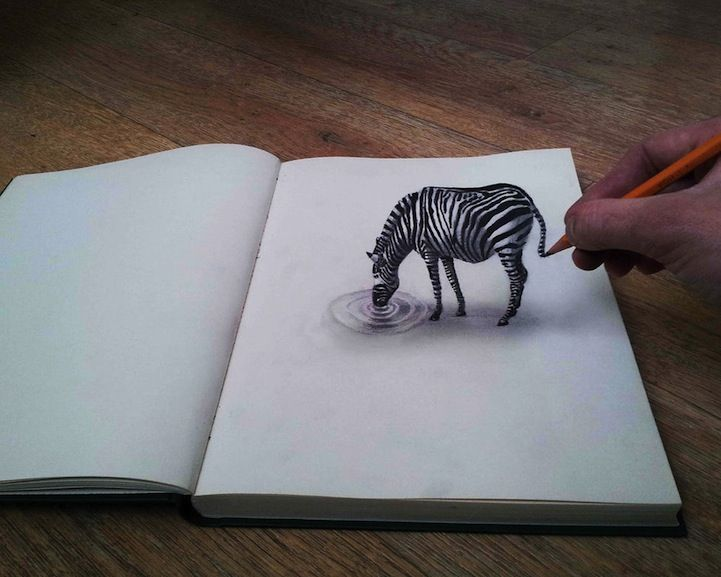 Drawn optical illusion creative Drawings 3d to Bruin artist