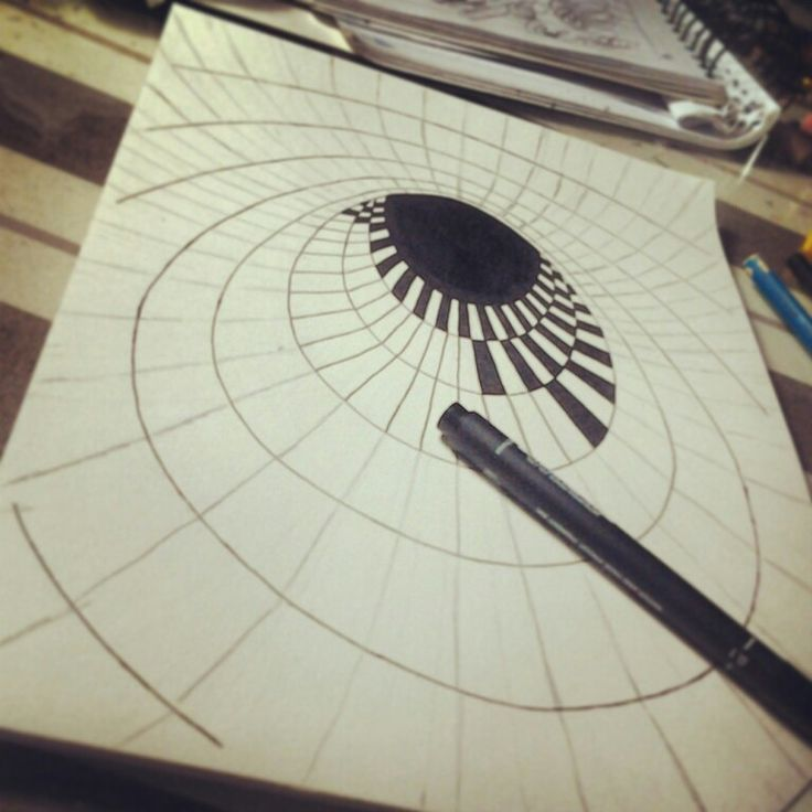 Hole #drawing on 3d illusion
