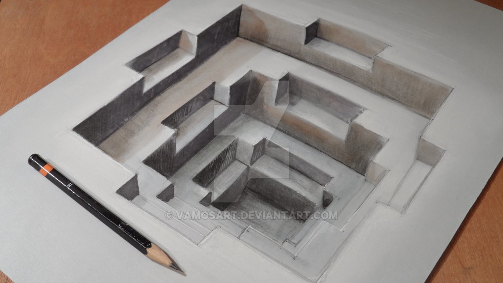 Drawn pyramid optical illusion Optical Illusions Anamorphic Architecture: Vamos