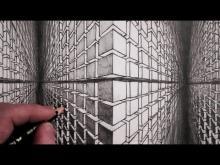 Drawn optical illusion cube 3D Draw How  Optical