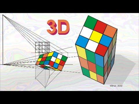 Drawn optical illusion cube Illusion  YouTube Optical 3D