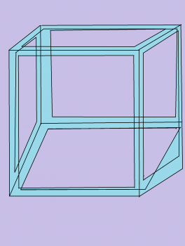 Drawn optical illusion cube Illusion cube a to How