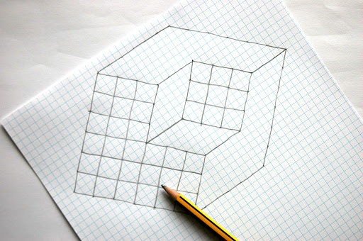 Drawn optical illusion cube Art cube and Search Pinterest