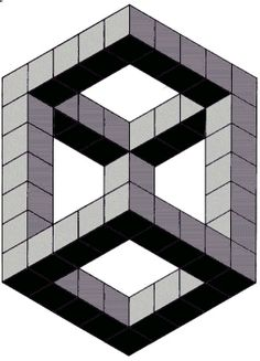 Drawn optical illusion cubic How optical Coloring way illusions