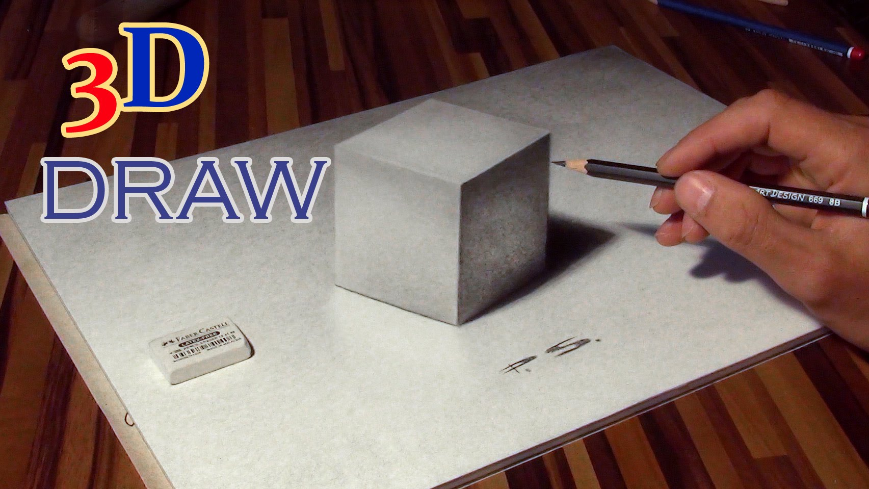 Drawn optical illusion cubic Of Unsubscribe YouTube CUBE Drawing