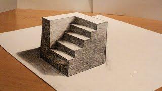 Drawn optical illusion deep Draw perspective deep Optical Opti