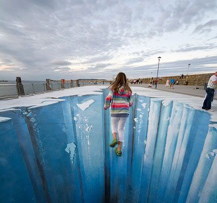 Drawn optical illusion deep Street Art Illusions Paintings 3D