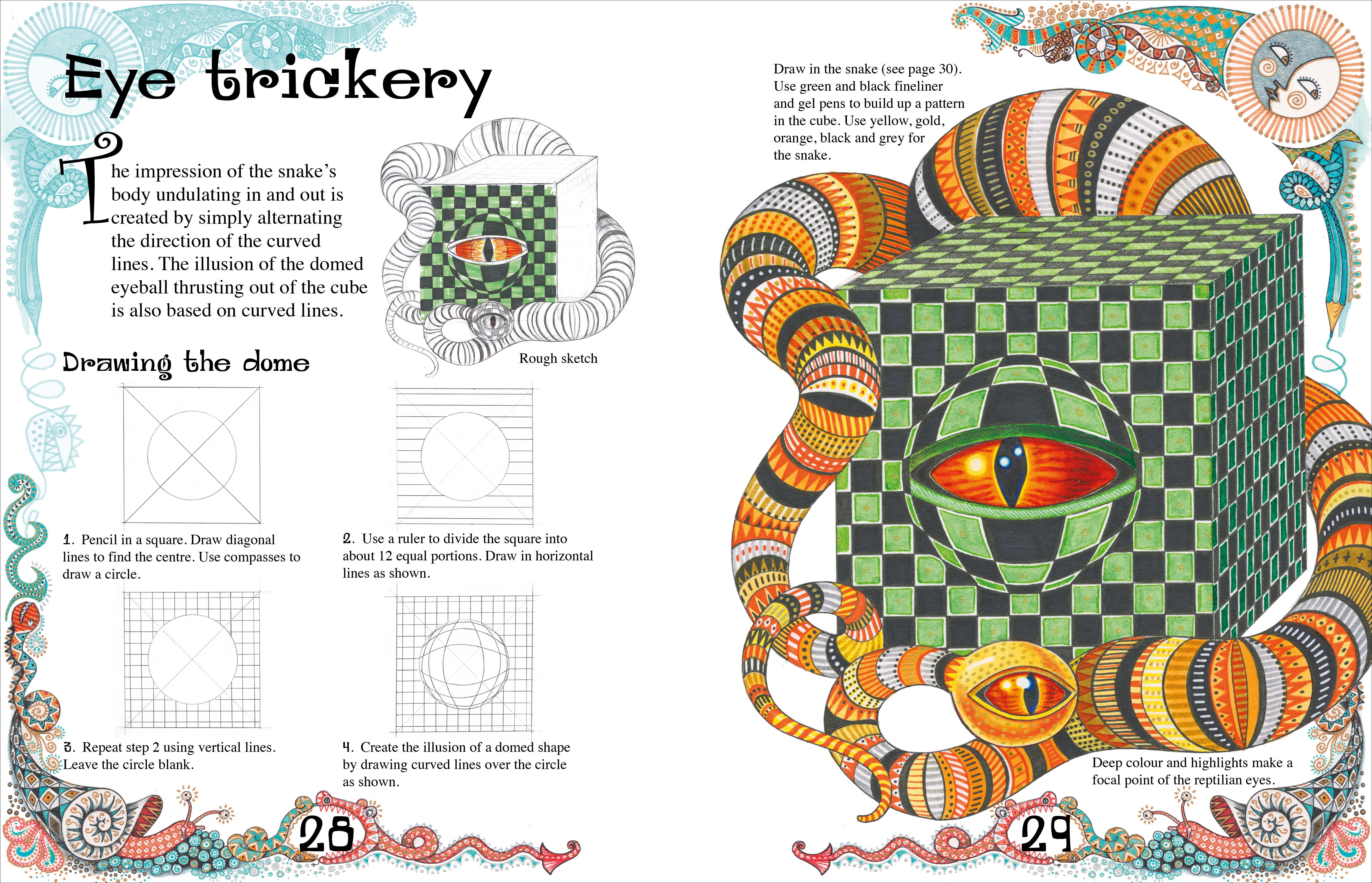 Drawn optical illusion deep Salariya Publishing Art: Start Carolyn