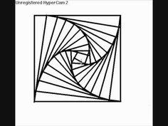 Drawn optical illusion depth drawing Spiral opticle Anamorphic how Drawing