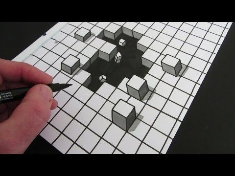 Drawn optical illusion depth drawing 3D How to 25+ Pinterest