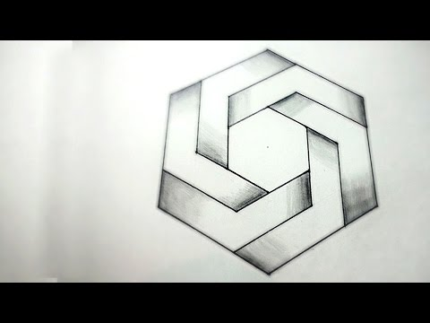 Drawn optical illusion depth drawing YouTube Illusions How Impossible To