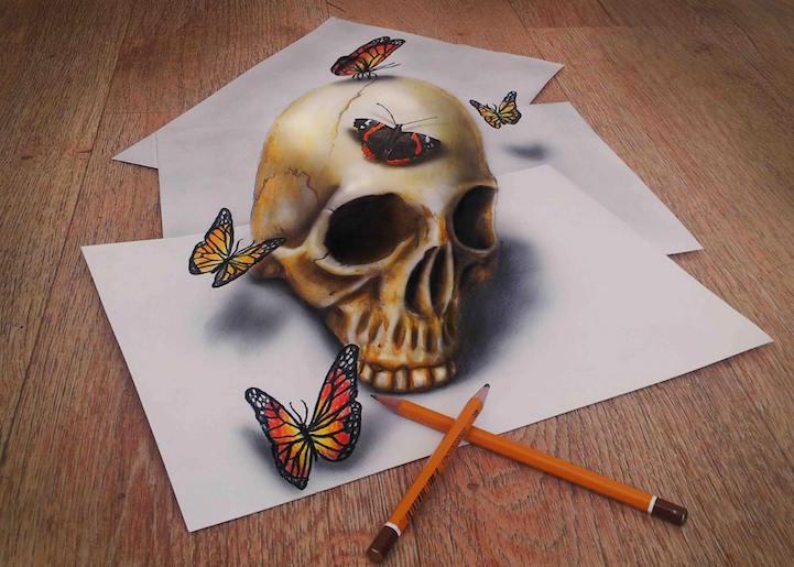 Drawn optical illusion depth drawing Drawings  New by Ramon